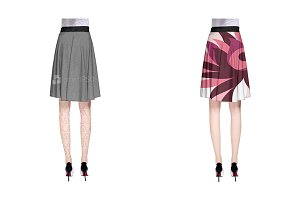 A-Line Skirt Design Mock-up