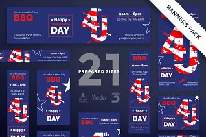 Banners Pack | Independence Day