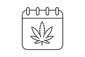 National Weed Day linear icon