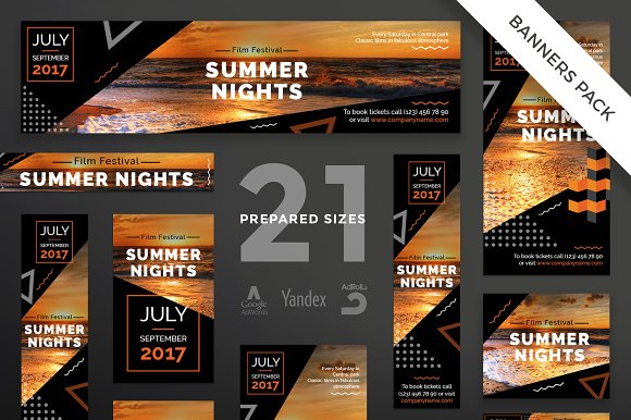Banners Pack | Summer Nights