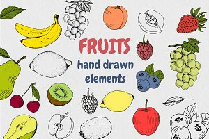Fruits vector elements