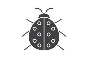 Ladybug glyph icon