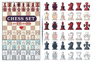 Love Chess Game Set