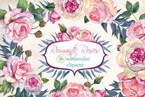 Romantic Roses 16 Clip Arts