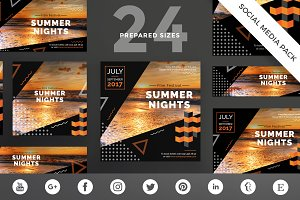 Social Media Pack | Summer Nights