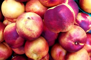 Nectarines in the market