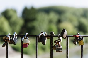 Locks of Love on a fence.