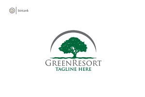 Green Resort - Oak Logo