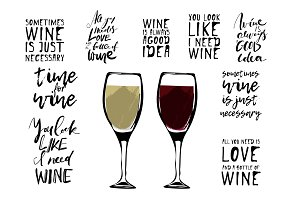 Wine quotes set
