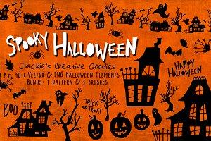 Spooky Halloween: Hand Drawn Set
