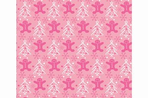 Christmas pink background