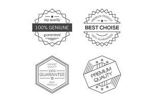 Guarantee, quality minimal badges