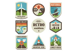 Retro ecologic emblems