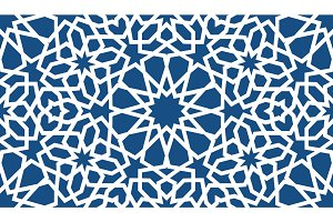 Blue islamic pattern . Seamless arabic geometric pattern, east ornament, indian ornament, persian motif, 3D. Endless texture can be used for wallpaper, pattern fills, web page background .