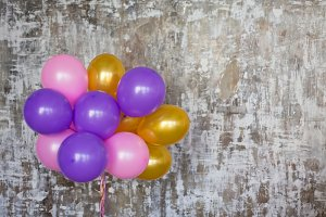 Bright balloons bunch