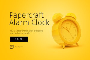 Papercraft alarm clock