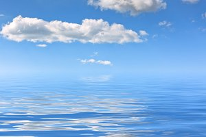 Blue clear sea water background