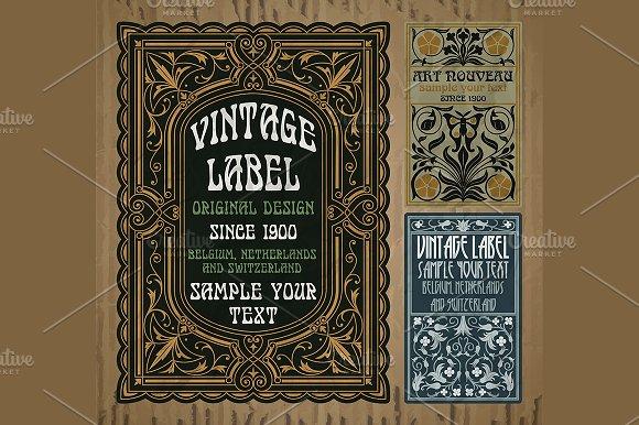 Label Art Nouveau in Illustrations