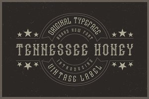 Tennessee Honey label font