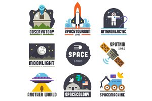 Space logo set