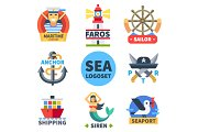 Sea logo set