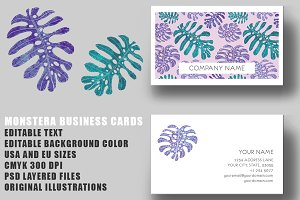 Monstera Business Card