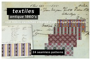 Antique Samplebook Textile Patterns