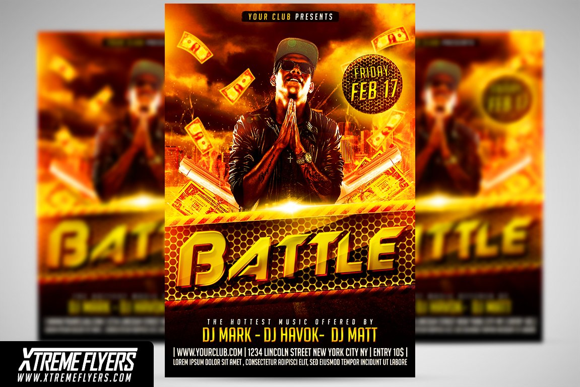 rap flyer template flyer templates creative market