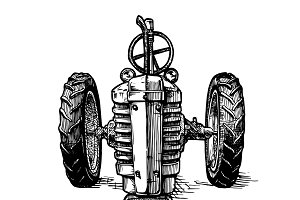 illustration of tractor