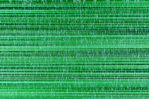 Horizontal green noise lines illustration background