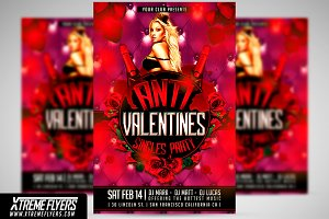 Anti Valentines Day Flyer Template