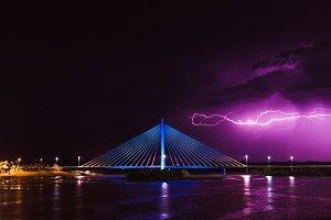 Lightning storm over Royal Bridge