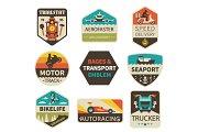 Vintage transport emblems