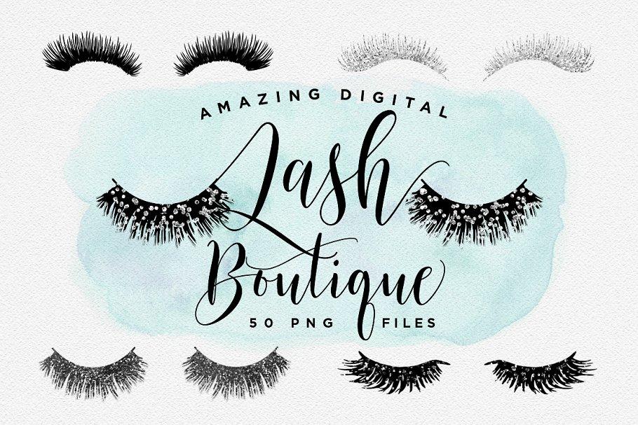 Digital Lash Boutique Eye Lashes Illustrations Creative Market