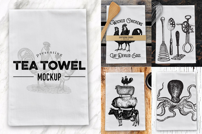 Tea Dish Towel Mockup Product Mockups Creative Market