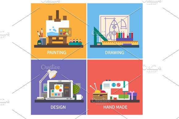 Creativity. Vector flat illustration - Illustrations