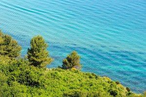 Summer Adriatic sea coast