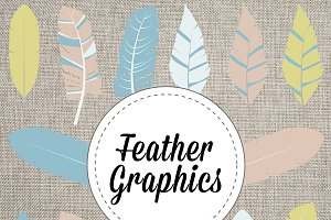 Fun Feather Vectors and PNG Graphics