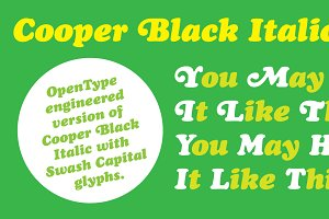 Cooper Black Italic Pro