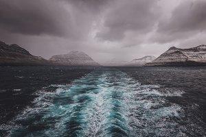 Dark Oceanscape with Islands