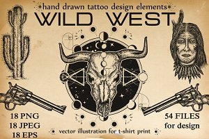 Wild west tattoo