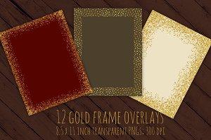 Gold glitter frames
