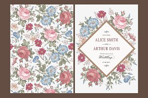 Wedding Flowers Rose Card Frame