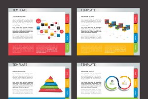 Slide template. Vector presentation.