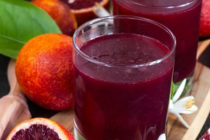 Blood orange juice