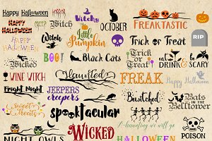 Halloween Typography Word Art