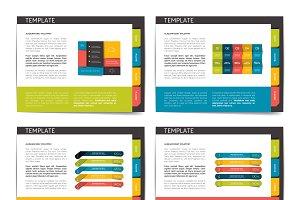Slide template. Vector presentation.