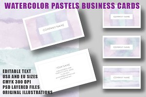 Watercolor Pastels Business Card