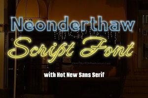 Neonderthaw 2 Font Set
