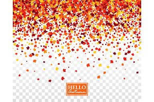 Fall festive seamless background